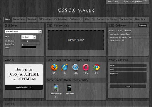 css 3.0 maker