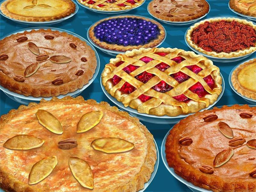 Thanksgiving Pies Wallpaper