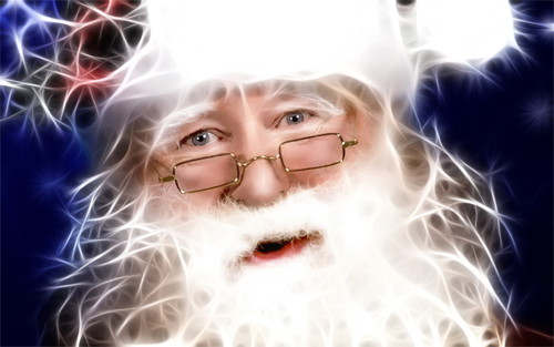 Electric Santa wallpapers