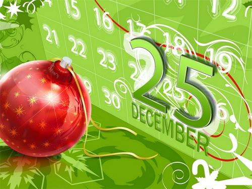 Christmas Date Wallpaper