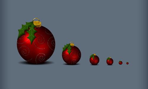 Christmas_holly ball icons