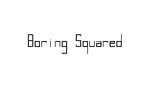 Boring Squared Thin font