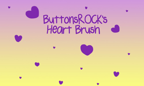 Photoshop Heart Brush