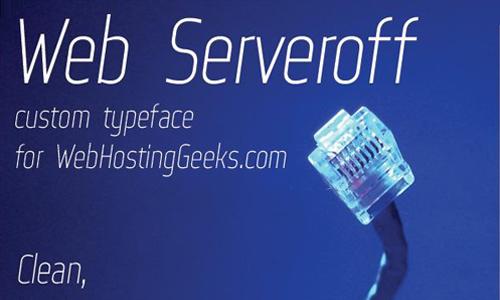 Web Serveroff font