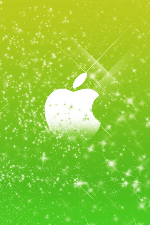 Sparkly Apple Logo