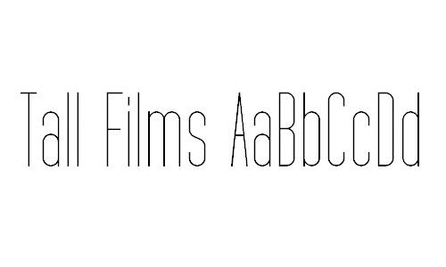 Tall Films font