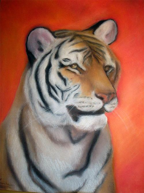 Tigre en Pastel