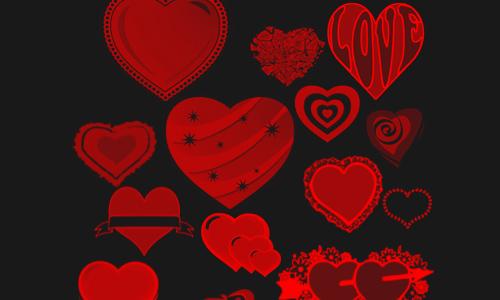 Photoshop Heart Brushes
