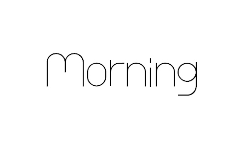 morning font