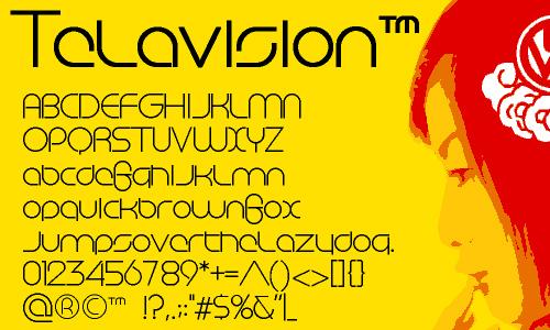 Telavision font