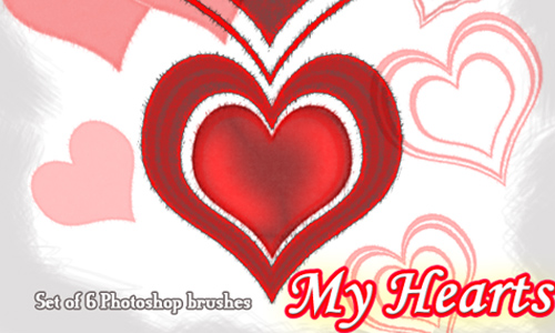 My Hearts 01 :Photoshop Brush: