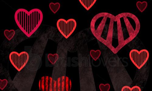 Stripey Hearts