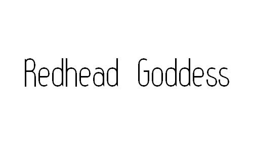 Redhead Goddess font