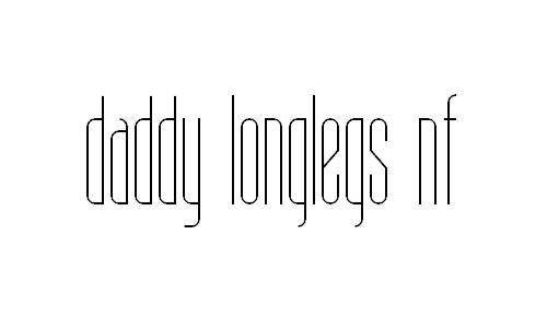 Daddy Longlegs NF font