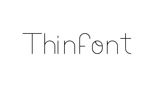 thinfont