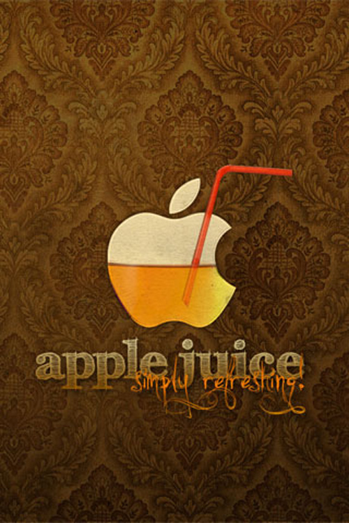 Apple Juice iPhone Wallpaper