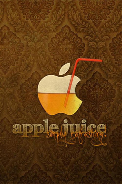 Apple Juice iPhone Wallpaper