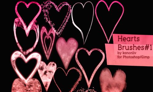 Heart Brushes part 1