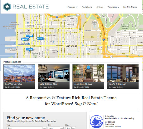 14 Premium WordPress Themes for Real Estate and Brokers - blueblots.com