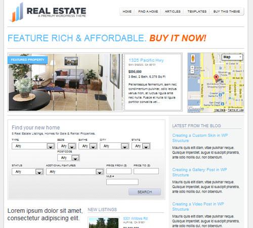 WP Pro Real Estate 2 WordPress Theme