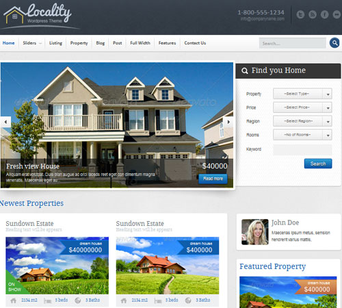 Locality - Real Estate Theme