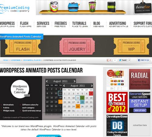Wordpress Animated Posts Calendar