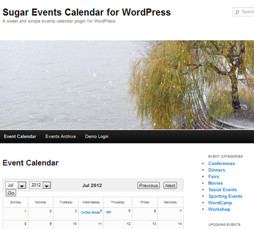 Sugar Event Calendar for WordPress