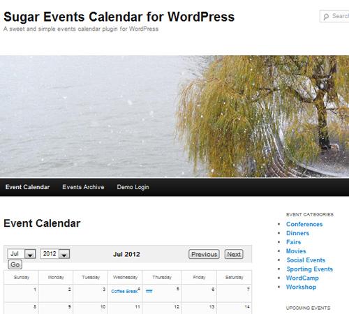 Sugar Event Calendar for WordPress