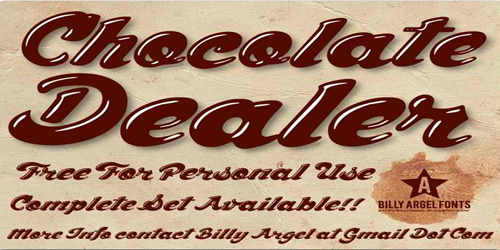 Chocolate dealer font