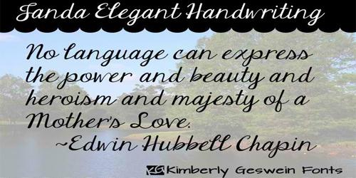 Janda Elegant Handwriting font