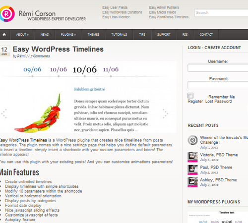 Easy WordPress Timelines