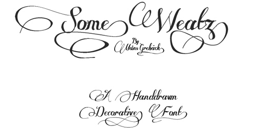 Some Weatz font
